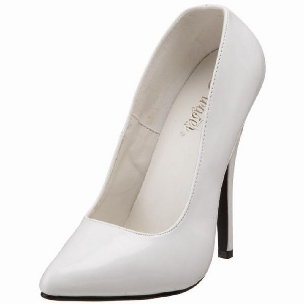 White Patent Womens Slip On Classic Pumps Court Fetish Stiletto High Heel Shoes
