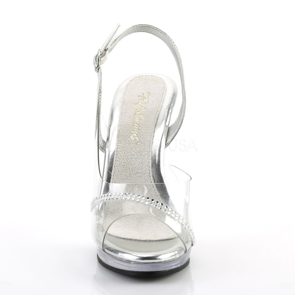 Clear Rhinestone Slingback High Heels Platform Sandals Evening Prom Womens Shoes