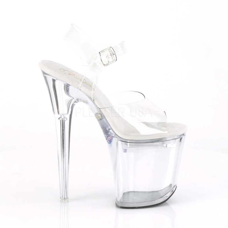 Clear LED Illuminated Ankle Strap Sandals Multiple Static Changing Color Lights