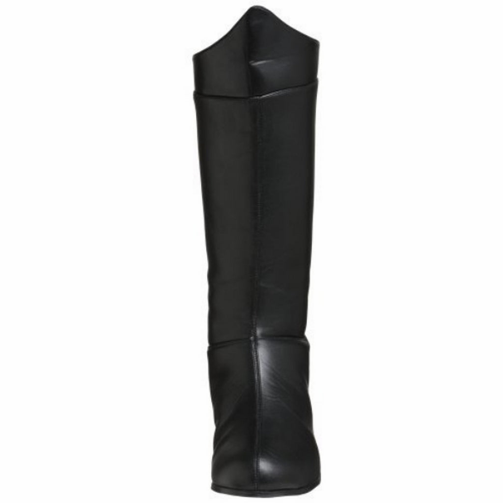 FUNTASMA HERO-100 Mens Super Hero Knee High Boots Cosplay Costume Black PU