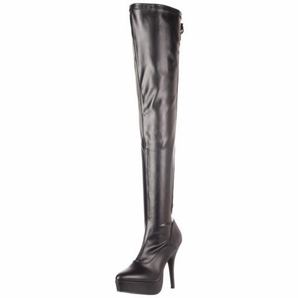 Black Matte Womens Stretch Thigh High Boots Sexy Platform Stiletto High Heel