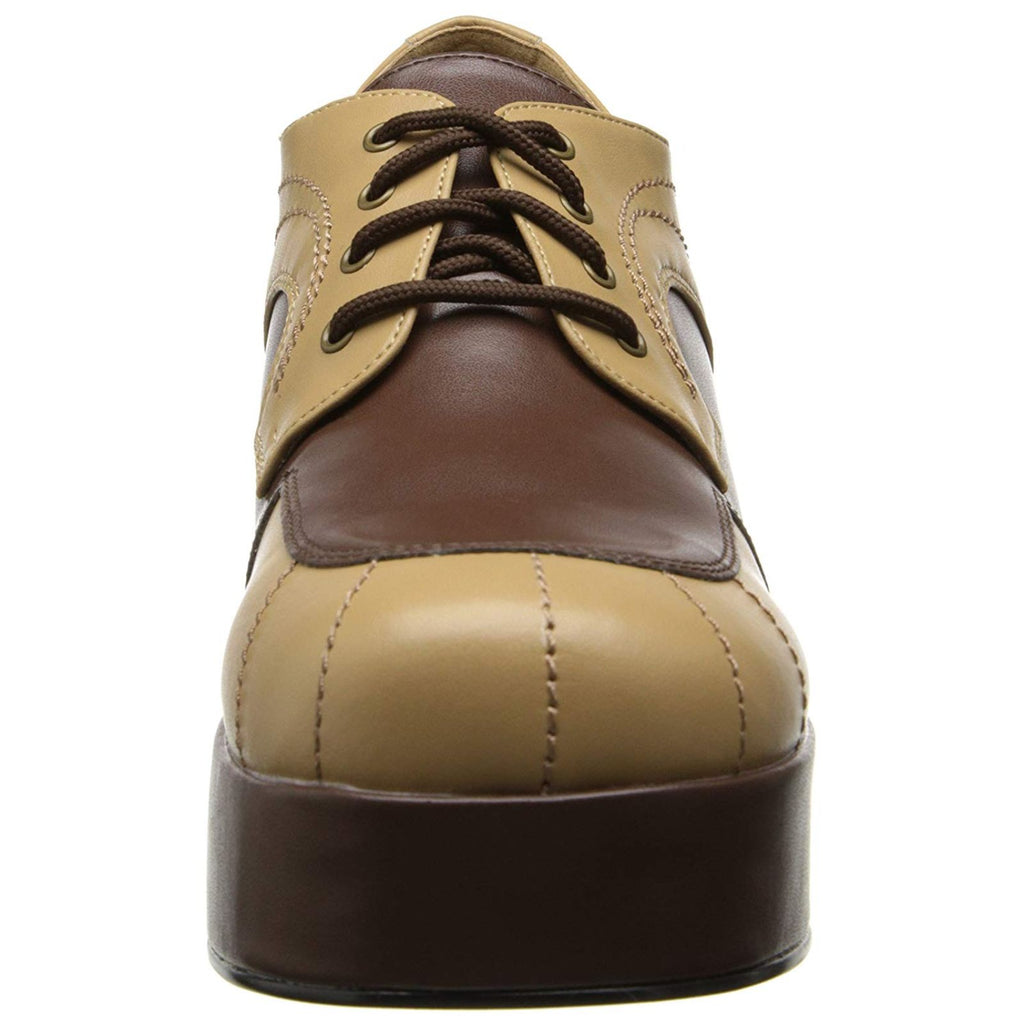 Tan Brown Oxford Spectator Disco Fancy Platform Lace Up Shoes JAZZ-06 Funtasma