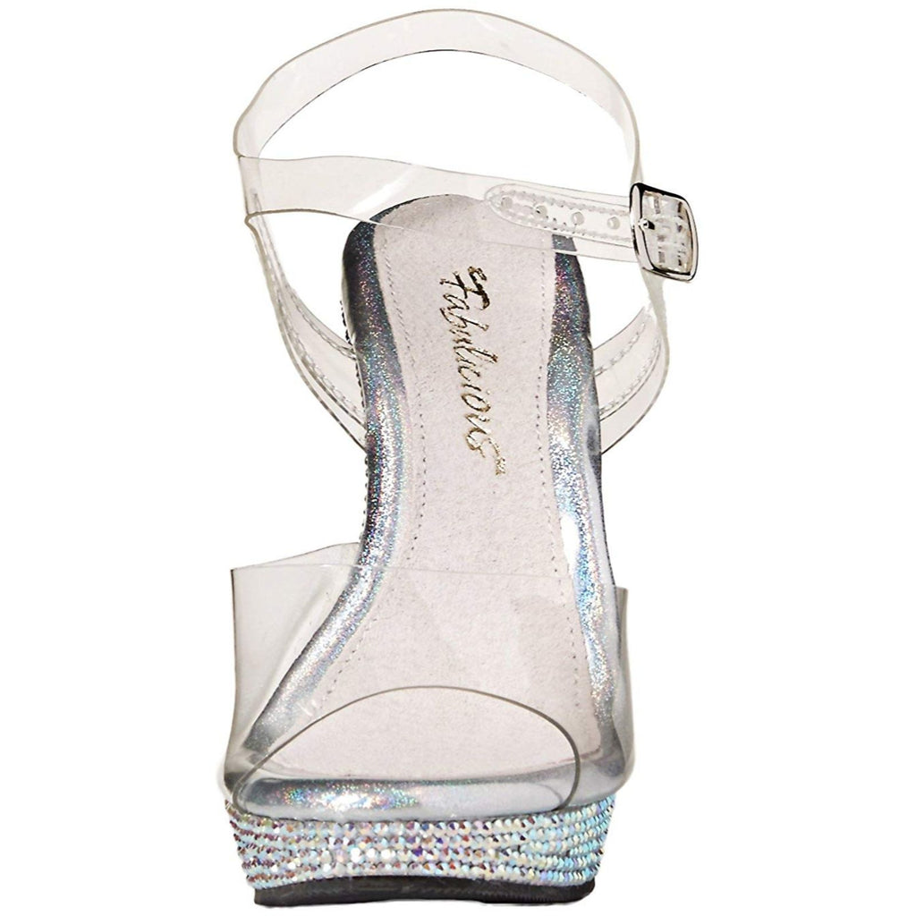 Clear Rhinestones Party Prom Bridal Ankle Strap Sandal FABULICIOUS LIP-108DM