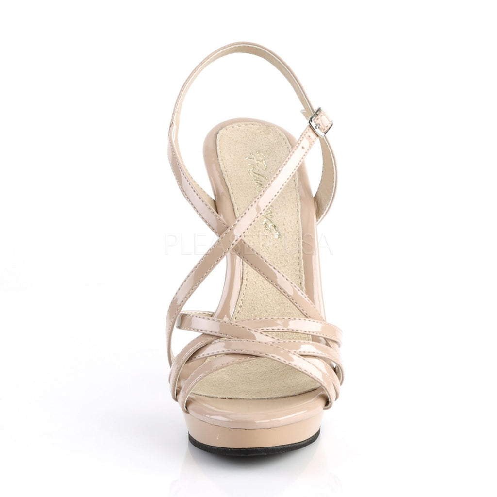 Nude Sexy High Heel Platform Strappy Sandals Womens Shoes PLEASER LIP113/ND/M