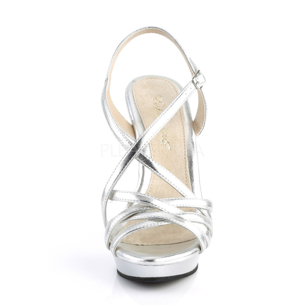 Silver Sexy High Heel Platform Strappy Sandal Womens Shoes PLEASER LIP113/SMPU/M