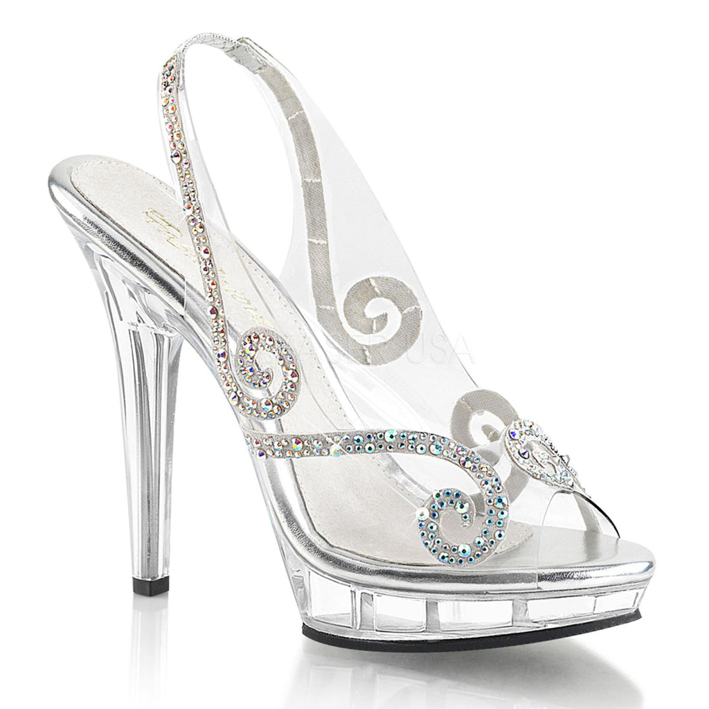 Clear Party Prom Bridal Platform Slingback Sandals Shoes FABULICIOUS LIP-149