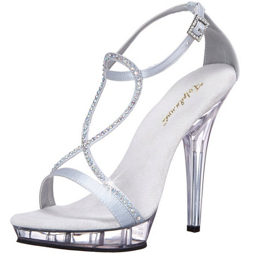 Silver Party Prom Bridal Ankle Strap Sandal Shoes FABULICIOUS LIP-156 Series