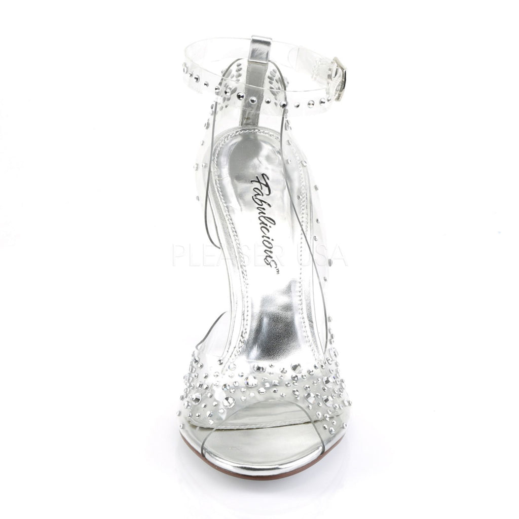 Clear D'Orsay Wedge Party Prom Bridal Ankle Strap Sandal FABULICIOUS LOVELY-430R