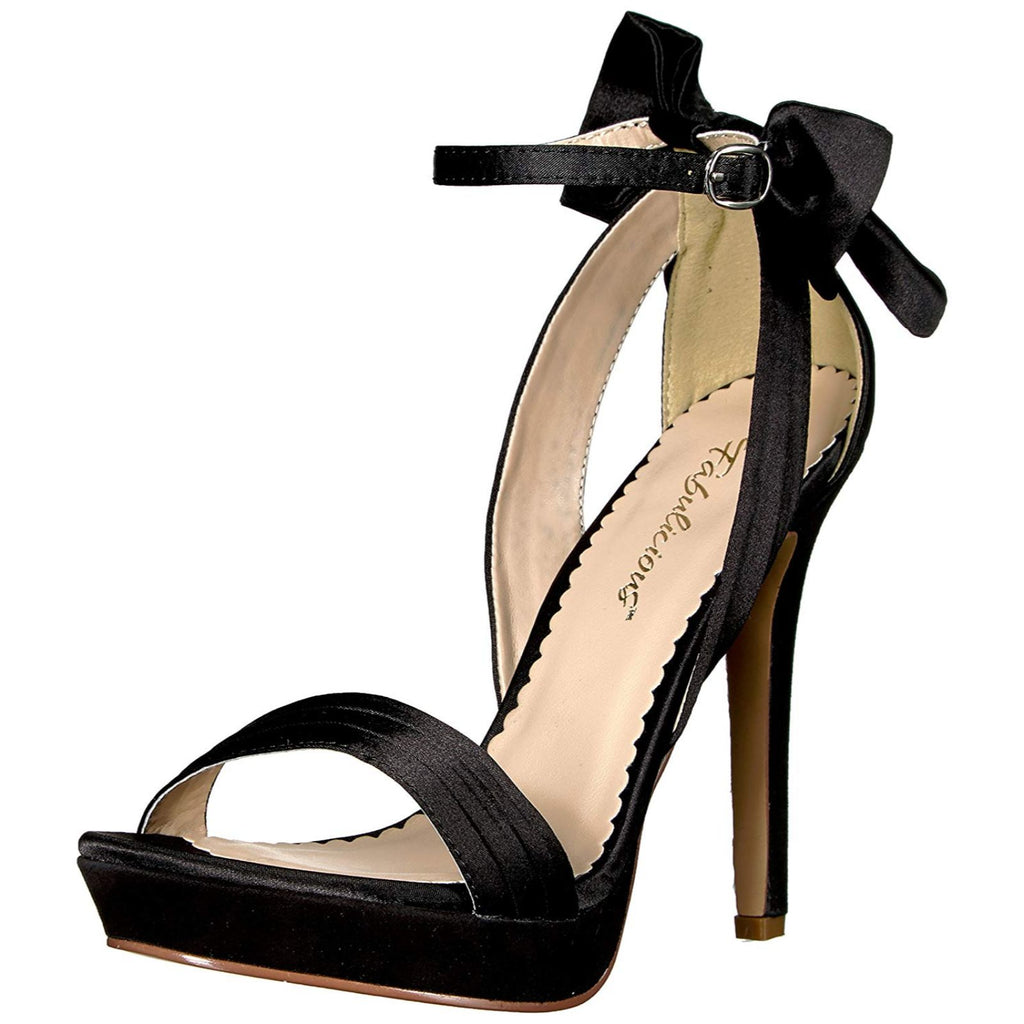 Black Sexy High Heels Ankle Strap Bridal Wedding Shoes Sandals PLEASER LUMINA-25