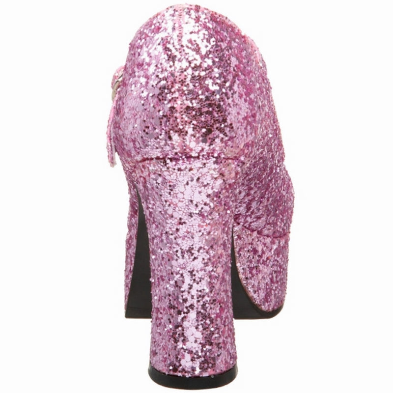 Baby Pink Glitter Womens Shoes Mary Jane Pump High Heel FUNTASMA MARYJANE-50G
