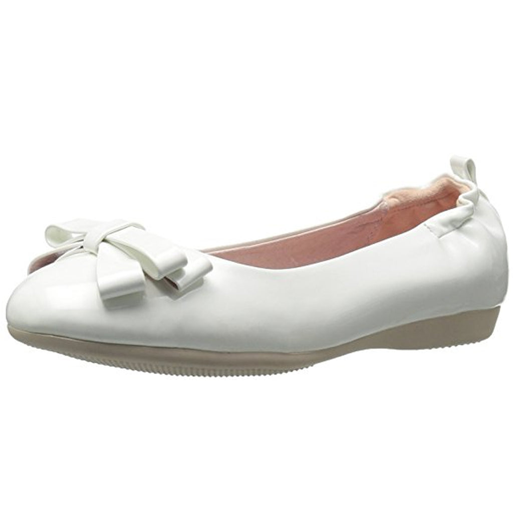 White Patent Womens Retro Rockabilly Vintage Flats Round Toe Foldable Shoes