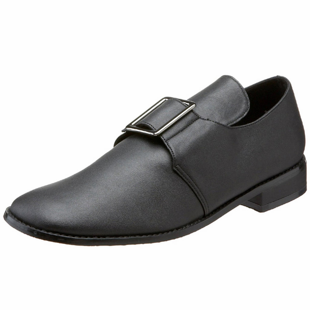 Black Pilgrim Colornial Large Front Buckle Loafer Shoes Men PILGRIM-10 Funtasma