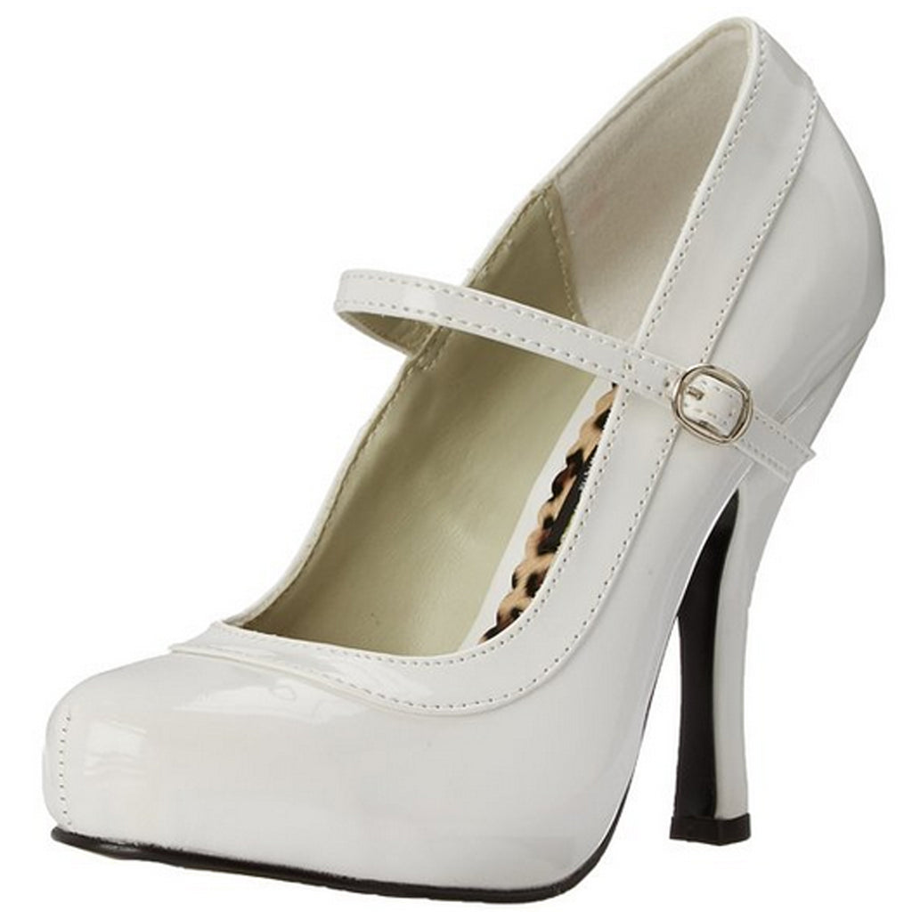 White Patent Womens Mary Jane Pumps Platform Shoes Cosplay Costume High Heel