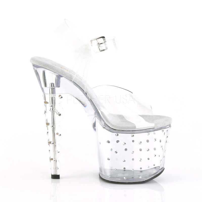 Clear Ankle Strap Sandals Platform Sexy Exotic Dancer High Heels Stripper Shoes