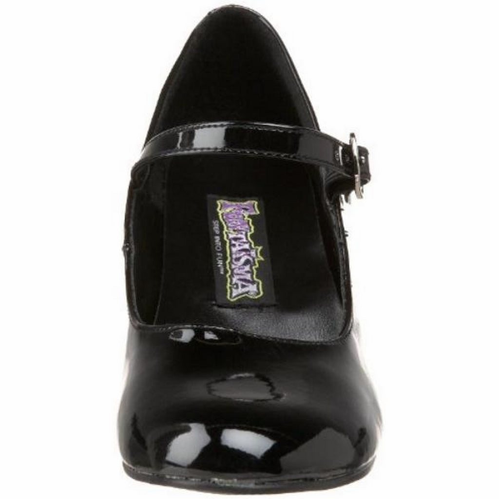 Black Patent Plain Mary Jane Retro Pump Womens Shoes Costume Schoolgirl Costplay