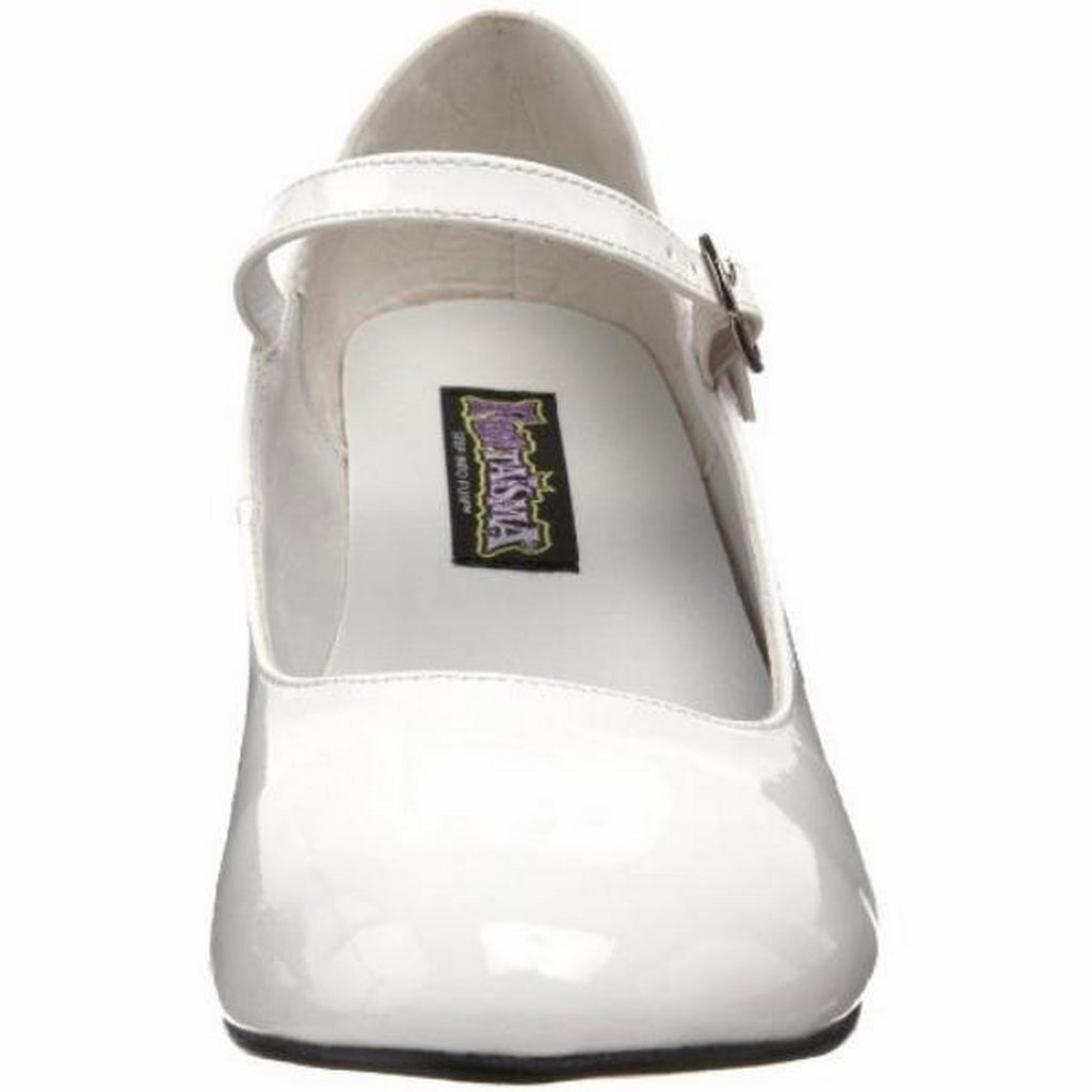 White Patent Mary Jane Pump Retro Womens Shoes Costume Costplay Schoolgirl