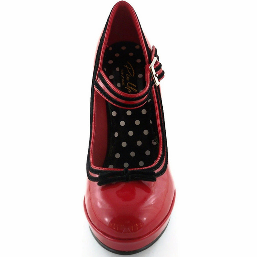 Red Patent Womens 50s Retro Rockabilly Vintage Mary Jane Pumps Shoes High Heel