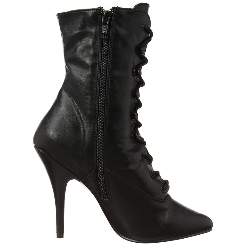Black Lace Up Ankle High Boots Sexy Exotic Dancing Clubwear Stiletto High Heels