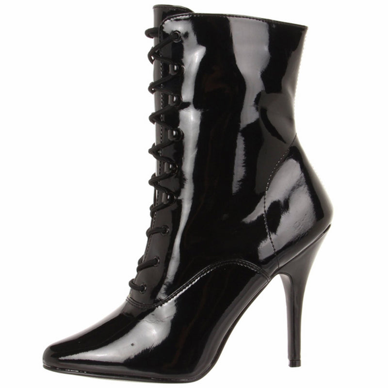 Black High Heel Lace Up Womens Exotic Ankle Boot Stiletto SEDUCE-1020 Pleaser