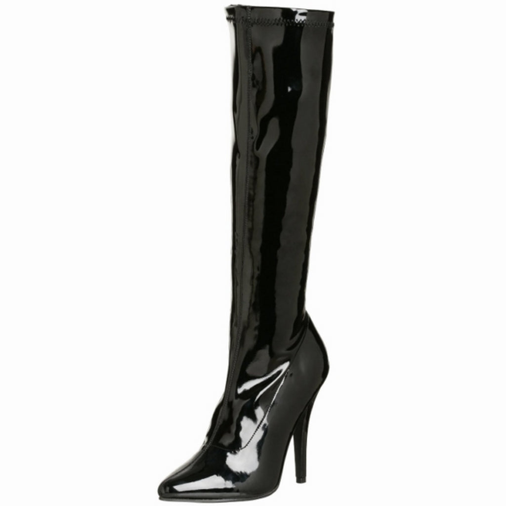 Black Stiletto High Heel Knee High Boots Exotic Dancing Clubwear Pleaser