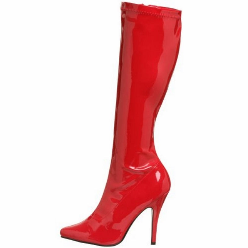 Red Stiletto High Heel Knee High Boots Exotic Dancing Clubwear Pleaser