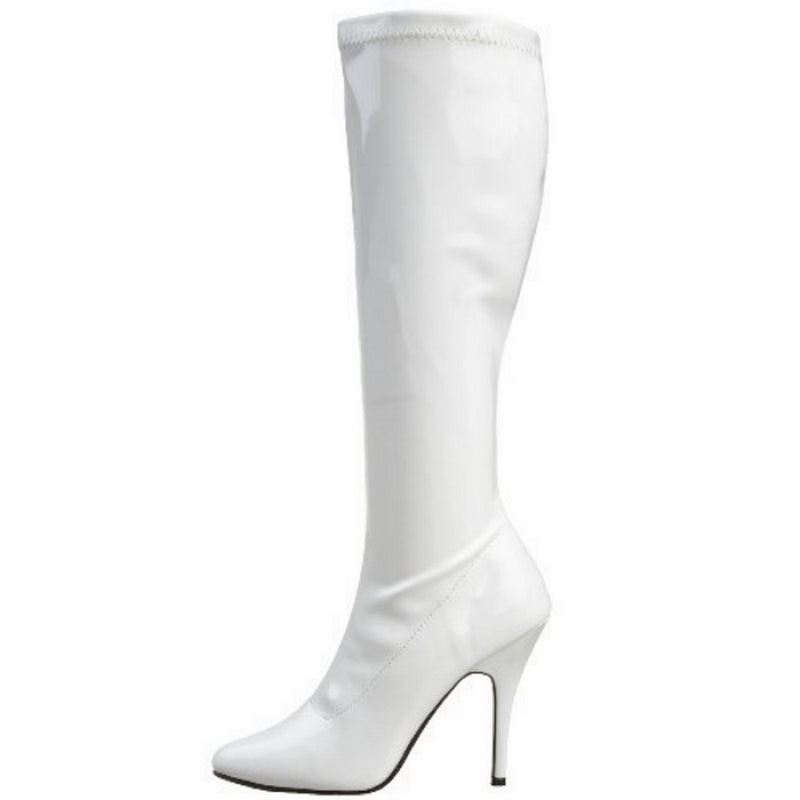 White Stiletto High Heel Knee High Boots Exotic Dancing Clubwear Pleaser