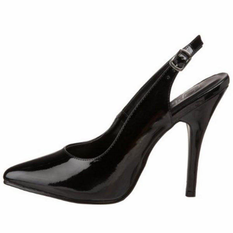 Black Patent Womens Slingback Pumps Sexy Exotic Single Sole High Heels Shoes