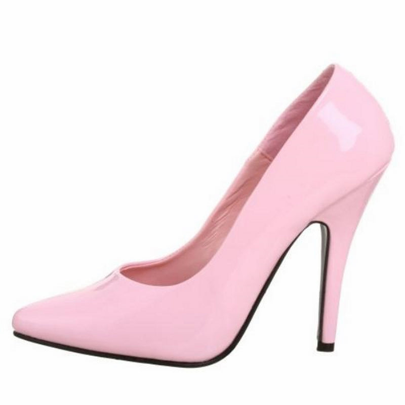 Baby Pink Patent Classic Pumps Shoes Evening Bridal Prom Stiletto High Heels