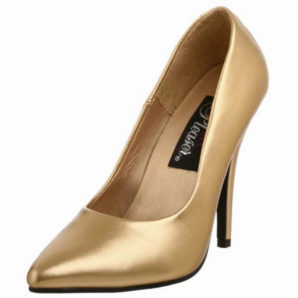 Gold Matte Womens Classic Pumps Shoes Evening Bridal Prom Stiletto High Heels