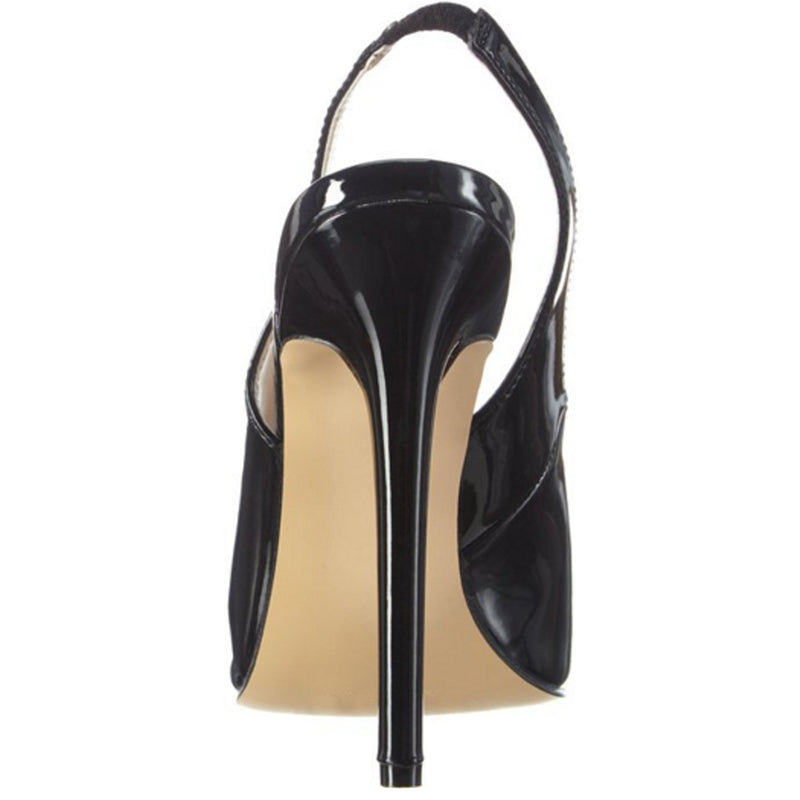 Black Sexy Womens Slingback Stilettos High Heels Sandals Shoes PLEASER SEXY08/B