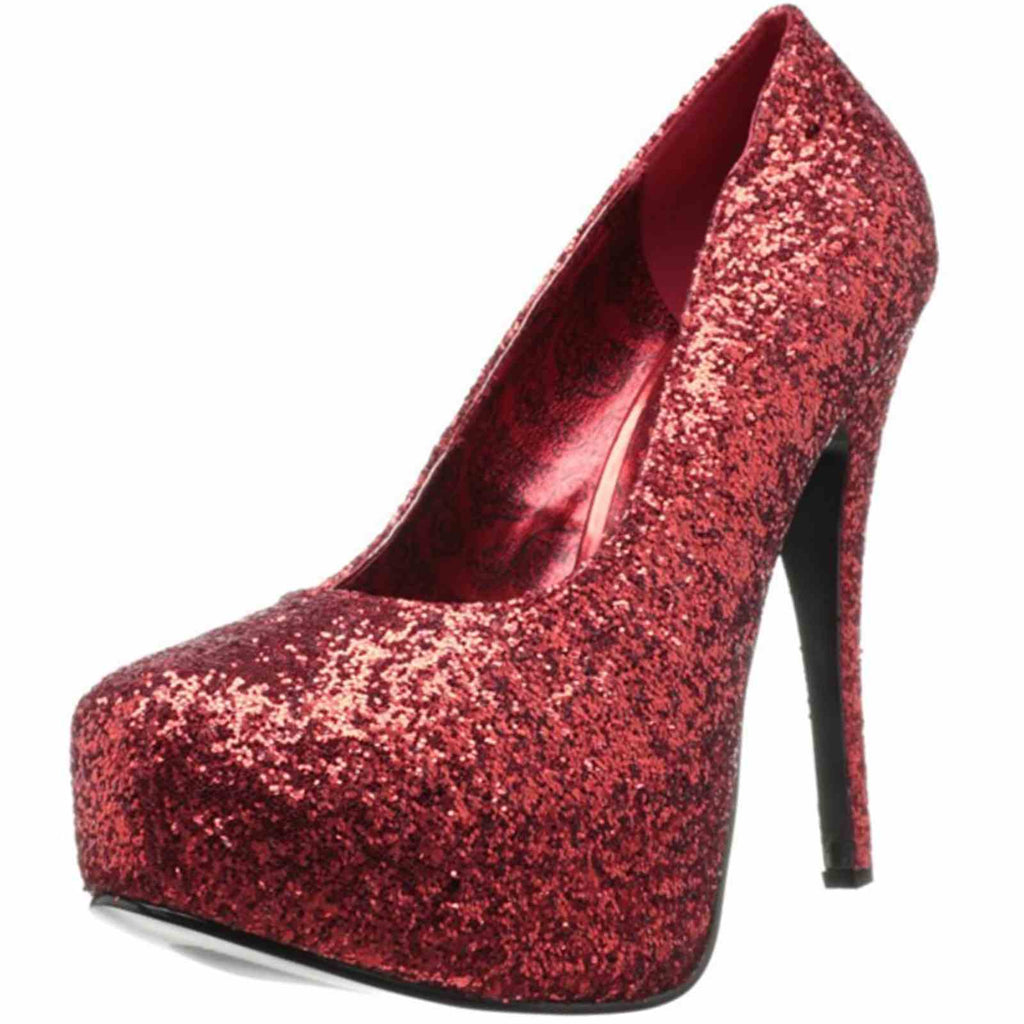 Red Glitters Womens Wide Width Pumps Platform Sexy Stiletto High Heels Shoes