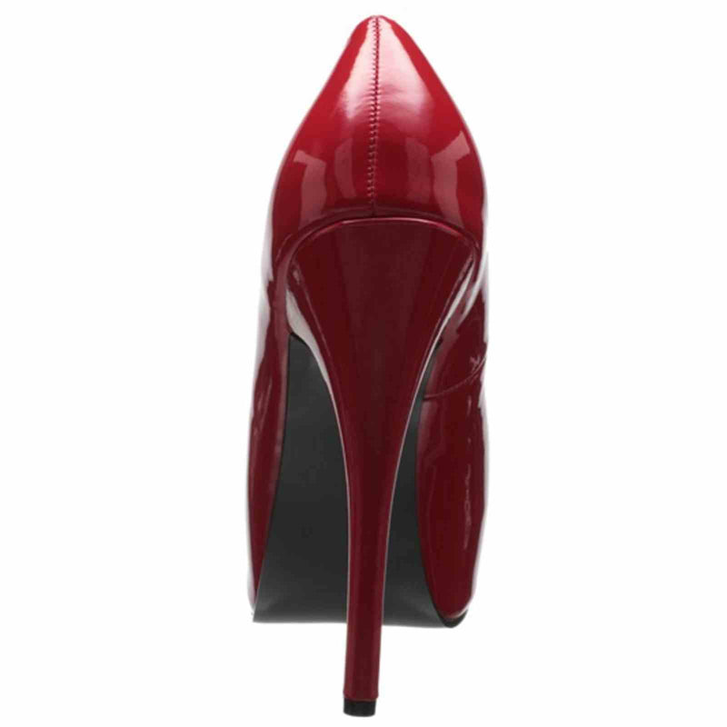 Red Patent Womens Wide Width Pumps Platform Sexy Dressy Formal High Heels Shoes