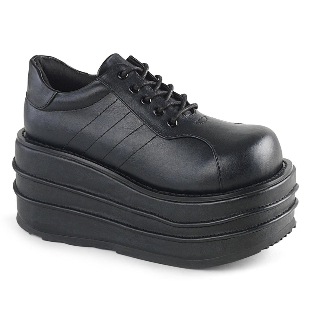 Black Men Oxford Clubwear Punk Gothic Platform Lace Up Sneakers Shoes TEMPO-08