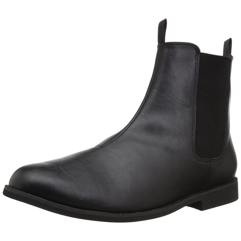 Black Trooper Pull On Elastic Side Panels Chelsea Ankle Mens Boots TROOPER-12