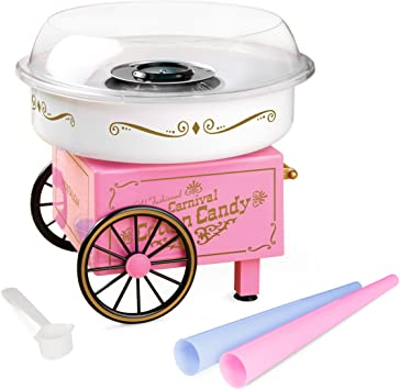 Aparat de facut vata de zahar pe bat, Cotton Candy Maker, Roz, 500 W