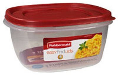 Rubbermaid Easy Find Lid Square 14-Cup Food Storage Container Aqua