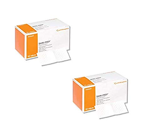 Smith & Nephew Skin-Prep Protection Dressing Wipes - 50 Count Box (2 Boxes)