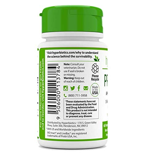 Hyperbiotics PRO-Pets-A Probiotic for Dogs & Cats-60 Micro-Pearls-Natural Beef Flavor-3 Billion CFU