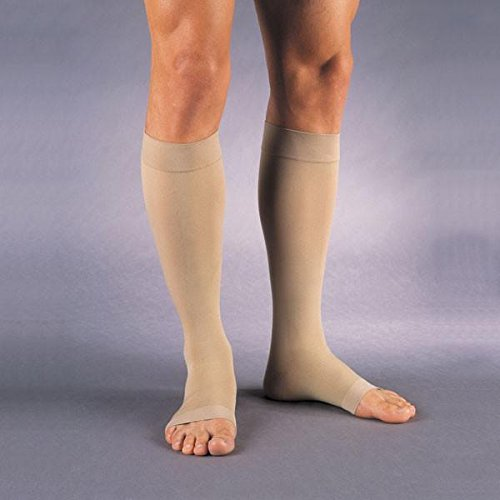 Jobst Relief Knee High Moderate Compression 15-20, Open Toe Silky Beige