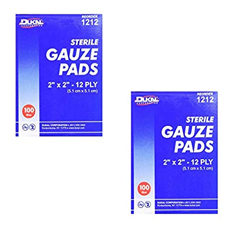 DKL1212 - Sterile Gauze Pads, 2x2, 12 Ply, 100/BX, White by Dukal Corporation, 100 Count
