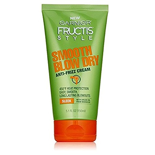 Garnier Fructis Style Smooth Blow Dry Anti-Frizz Cream, 5.1 fl. oz. (Pack of 2)