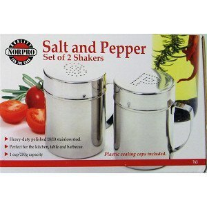 Norpro NOR-763 S/S Salt/Pepper Shaker Set