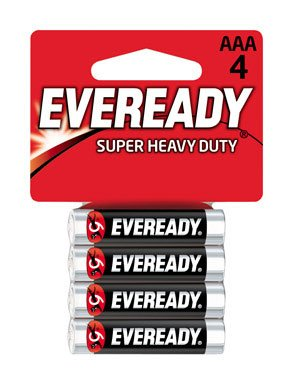 Eveready Heavy Duty 1212BP-4 AAA Batteries (4-Pack)