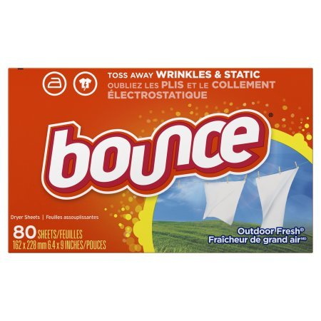 Bounce Outdoor Fresh Fabric Softener Dryer Sheets, 80 Sheets - 1 Pack