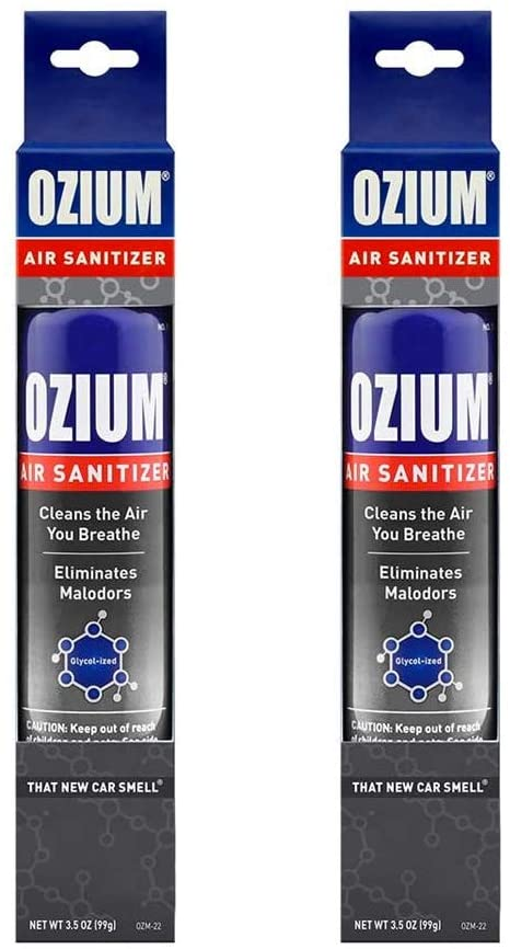 Ozium Air Sanitizer 3.5 oz Spray, That New Car Smell (2)