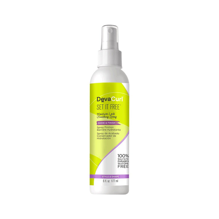 DevaCurl Set It Free Moisture Lock Finishing Spray, Style, Shape and Shine for Curly Hair