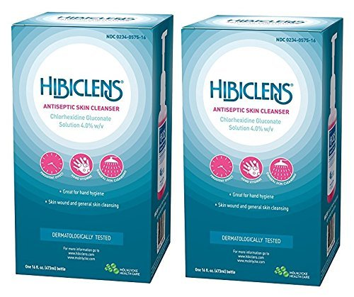 Hibiclens Antimicrobial Skin Liquid Soap with Foaming Pump, 16 Fluid Ounce (Pack of 2)