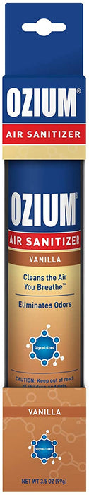 Ozium 3.5 Oz. 1 Pack Air Sanitizer & Odor Eliminator for Homes, Cars, Offices and More, Vanilla
