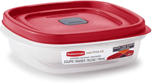 Rubbermaid 2030328 Easy Find Vented Lid Food Storage Container, 3-Cup