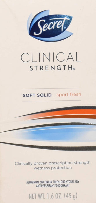 Sec Clncl SLD Frsh Martho Size 1.6z Secret Clinical Strength Marathon Fresh Scent Sport Antiperspirant Deodoran